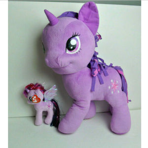 My Little Pony Twilight Sparkle Plushes XL and S